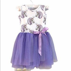 Other - NWOT Unicorn Purple Tutu Dress 0-6 Months